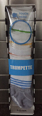 Trumpette Baby-socken (Box of 8 Pair Trumpette Baby Boy Socks  Size 0-12 Months Grey & Assorted Colors )