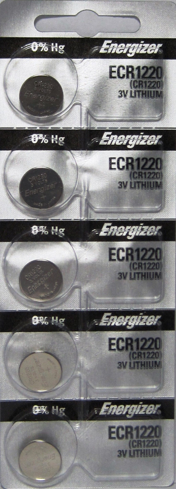 5 x Fresh ENERGIZER CR1220 BATTERY 3V LITHIUM CR 1220 DL1220 BR1220 EXP 2024 Consumer Electronics