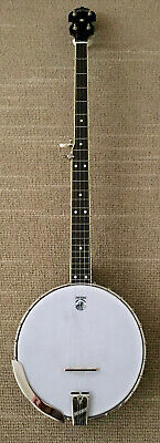 Deering Vega Long Neck Banjo W/ tubaphone tone ring, hard case included