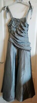 Dressy Daisy Silver Grey Ball Gown Prom Bridesmaid Dress size 10 for sale  Shipping to Nigeria
