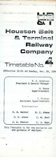 Houston Belt & Terminal - System - No 4 - December 1969
