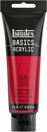 Liquitex Basics Acrylic Paint 118ml-Naphthol Crimson, Pk 3, Liquitex - $11.03