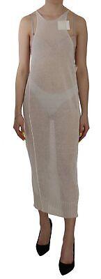ISABEL BENENATO Dress Flax Off White See Through Sleeveless Maxi IT40/US6/S $200