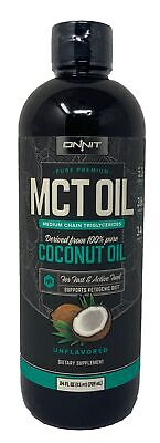 ONNIT Premium MCT Oil Derived from 100% Pure Coconut Oil Unf