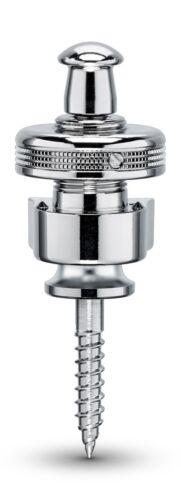 Genuine Schaller latest S-Lock Straplock. pair - Chrome 14010201 Made in Germany