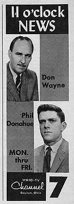 1962 Tv Ad Don Wayne   Phil Donahue Whio News Dayton Ohio Talk Show Host