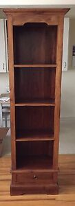 Indonesian Antique Mahogany  Open Bookcase