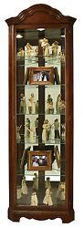 Howard Miller 680-495 (680495) Murphy Lighted Curio Cabinet - Cherry Bordeaux