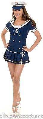 SEXY NAVY BRAT ADULT HALLOWEEN COSTUME X-SMALL - Navy Brat Costume