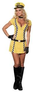 WOMENS SEXY TAXI DRIVER 6 PC COSTUME DRESS SIZE XL RL4029