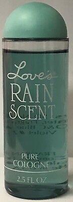 Love's by Dana  Rain Scent  Pure cologne 2.5 fl oz plastic bottle sealed