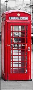 Sticker de porte trompe l 39 oeil cabine t l phonique - Cabine telephonique anglaise a vendre ...