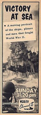 1959 Wgal Tv Ad Victory At Sea Ships Planes   Men That Fought World War Ii Wwii