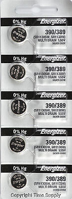 5 pc 390 / 389 Energizer Watch Batteries SR1130W 1130 0%HG