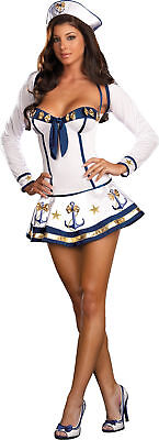 Makin Waves Adult Women's Costume Stretch Knit Anchor Accents Dress Dream Girl (Makin Waves Kostüm)