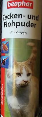 1x 100 Gramm  Beaphar Flohschutzpuder Zeckenpuder Katzenpuder Flohpuder