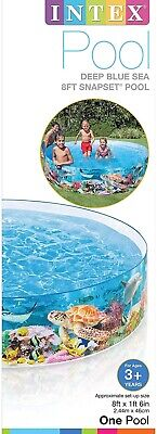 Intex 8ft X 18in Deep Blue Sea Snapset Above Ground Pool FREE FAST SHIPPING