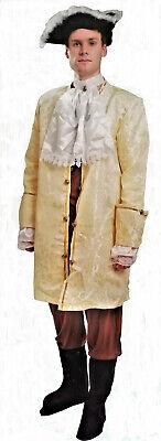 Kostüm Marquis Golden Herren L Höfling Edle Mittelalterlich Gelb Neu Billig