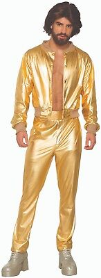 Adult 70s Gold Disco Singer Bee Gees Costume Standard