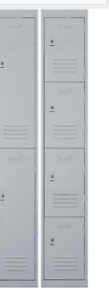 Silver 4 door metal locker with latch *NEW in box Fannie Bay Darwin City Preview