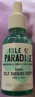 ISLE OF PARADISE ~ MEDIUM ~ Self Tanning Drops ~ 1.01 oz ~ FULL SIZE ~ UNBOXED