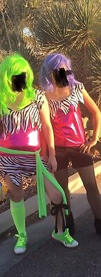 Jem And The Holograms Misfits Pizzaz Costume Matching Cosplay Medium 8 M Women - Jem And The Holograms Halloween Costume