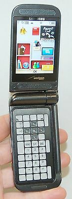 Samsung U750 Verizon Alias 2 Gray Dual Flip Style Cell Phone Ii Qwerty Camera