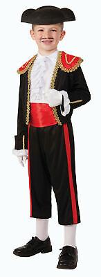 Matador Spanish Bull Fighter Boys Child Halloween Costume Dress Up Hat sm-lg - Boys Matador Costume