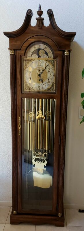 """Vintage Emperor Grandfather Clock 