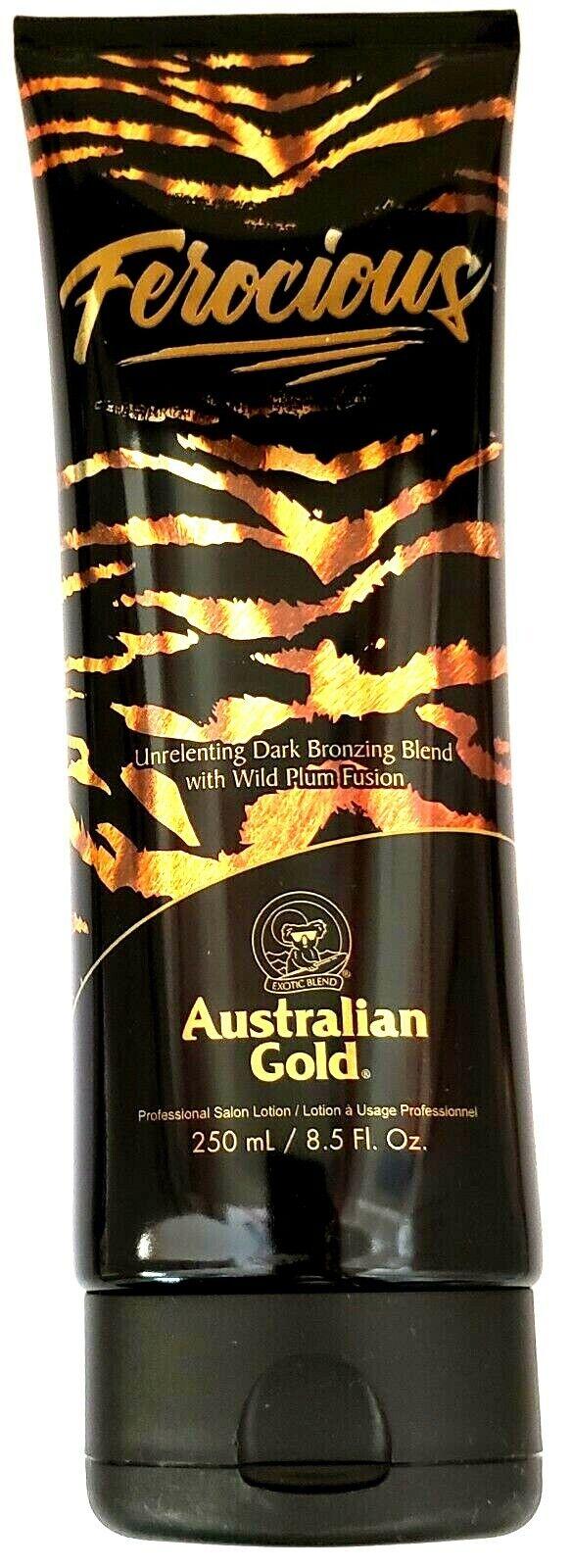 Australian Gold Ferocious Dark Bronzing Tanning Lotion Blend W/ Wild Plum Fusion - $24.90