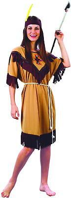 Indianerinnenkostüm für Damen mit Fransen braun-beigefarben - Kostüm Für Indianer