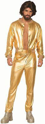 Disco Singer Shiny Gold Lame 70s vintage mens retro halloween costume](Vintage Halloween Costumes 70s)
