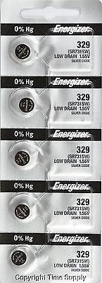 5 pcs 329 Energizer Watch Batteries SR731 SR731SW 0% HG