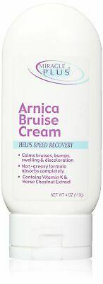 Miracle Plus Arnica Bruise Cream Helps Speed Recovery 4 Oz (113g)