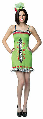 Wrigley's Gum Double Mint Dress Adult Women's Costume Halloween Rasta Imposta