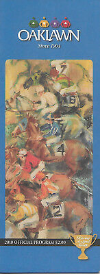 2010 Oaklawn Park Horse Racing Program Apple Blossom ZENYATTA Hall of Fame