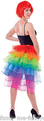 Lungo da Donna Schiena Arcobaleno Burlesque Festival Danza Costume Gonna Tutù