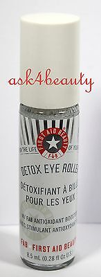 First Aid Beauty Detox Eye Roller Pour Les Yeux 8.5ml/0.28oz New & Unbox (First Eye)