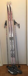 Womens Salomon x country ski package