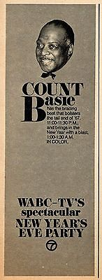 1963 WABC TV AD~COUNT BASIE NEW YEAR'S EVE PARTY in NEW YORK CITY~Bracing Beat ()