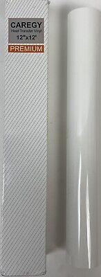 Caregy Heat Transfer Vinyl Roll - 12 X 12 Ft White