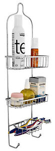3 Tier Chrome Bathroom Shower Toiletry Storage Rack Caddy Shelf Stainless Steel