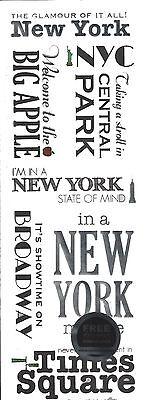Momenta   New York City Metallic Scrapbooking Stickers   Travel   Vacation