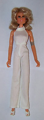 "Vintage Mego 1975 Farrah Fawcett 12"" Doll With Original White Jumpsuit Hong Kong"
