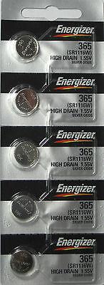 365 / 366 Energizer Watch Batteries SR1116SW 5 Pcs