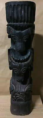 Antiques/ Vintage Indonesian  Wood Carved Totem 53cm High