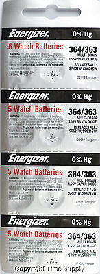20 pc 364 / 363 Energizer Watch Batteries SR621SW SR621 0% Hg