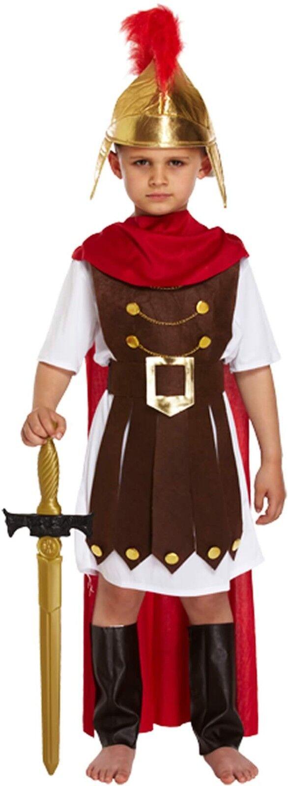 Boys Roman General Childs Fancy Dress Costume Outfit Histori