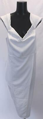Boohoo Women's Plus Off The Shoulder Wrap Midi Dress GS2 White Size US:16 NWT