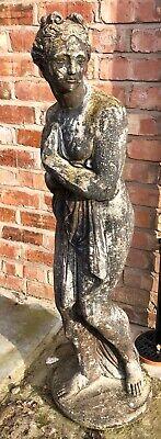 Antique Stone Garden Maiden Ornament 02